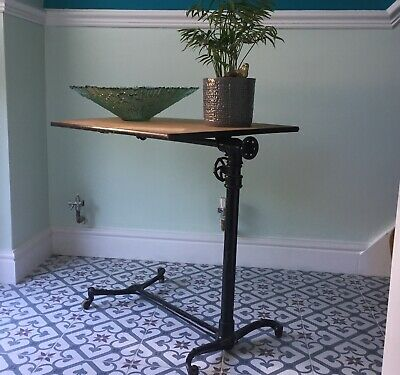 Victorian Medical Foldup Side Table Industrial