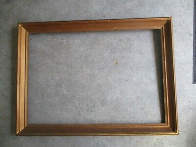 Large Victorian Gilt Wood Painting Frame