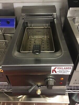 Commercial Chip Single Tank and Basket Fryer 9 Litre Electric Table Counter Top
