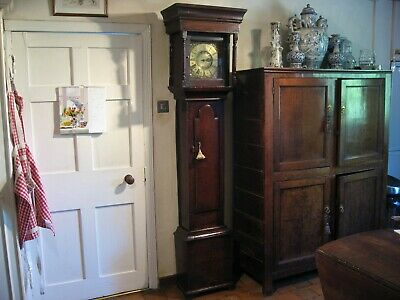 Antique Oak Long-Case Clock Gilbert Bullock Bishops Castle Superb Color & Patina