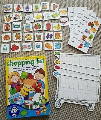 Shopping List Game -  Orchard Toys - Age 3-7 Years
