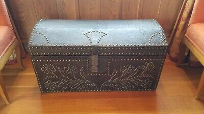 18th Century french Provincial Travel Trunk
