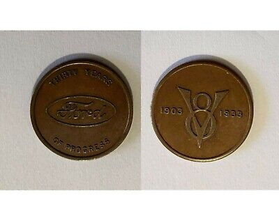 """1933 """"Thirty Years of Progress"""" New York Ford Exposition Souvenir Medal / Token"""