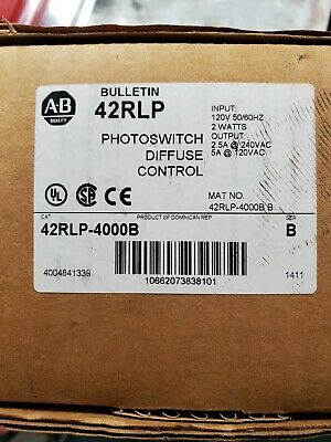 New In Box Allen Bradley 42Rlp-4000B Photoswitch Diffuse Control