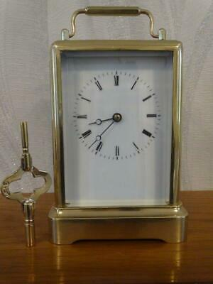 Antique Japy Freres one piece bell striking carriage clock - c 1860 - overhauled