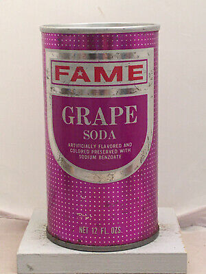 Fame Grape Soda Cans - 1970's