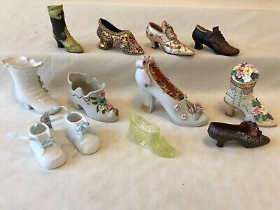 Lot of Vintage Porcelain Ceramic Resin Collectable Shoes
