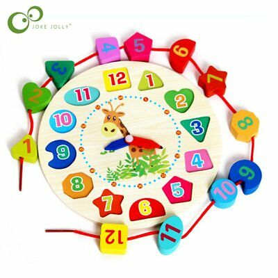 Educational Learning Sorting Clock Puzzle Play Toy for Toddlers Baby Kids