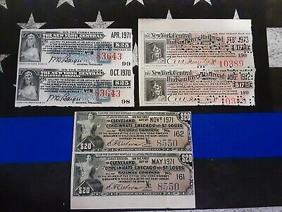 New York Central Railroad Hudson River American & Franklin Bank Note Comp. Lot