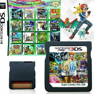 NEW TOP 208 in 1 Video Games Cartridge Cards For DS NDS 2DS 3DS NDSI NDSL FREE
