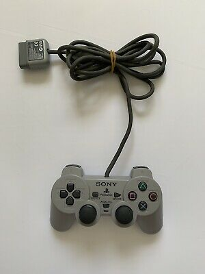 Official Sony PlayStation 1 PS1 Controller - Grey - Fully Tested - Free P+P