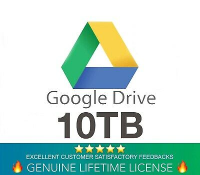 Google Drive 10TB Lifetime Account - Custom Login (Instant Delivery)