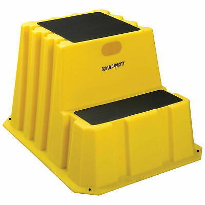 "2 Step Nestable Plastic Step Stand, 25-3/4""W x 32-3/4""D x 20-1/2""H"