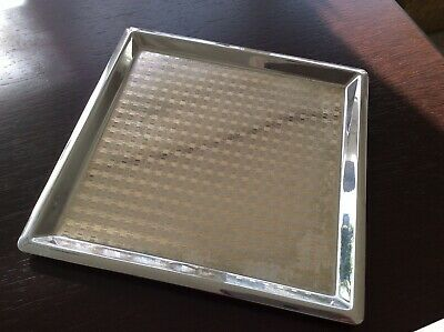 ART DÉCO Tablett - Serving Tray aus Chrom mit geometrisch gravierten Dekor !
