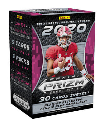 Panini 2020 Prizm Draft Picks Football - 6 Pack Blaster Box (Burrow, Tua)