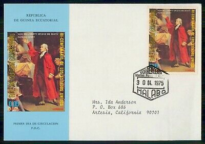 Mayfairstamps Equatorial Guinea FDC 1975 Bicentennarty of US Patrick Henry First