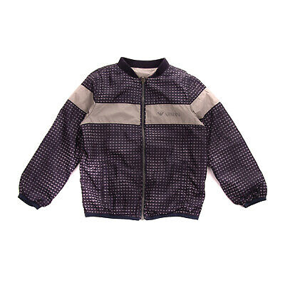 RRP €180 ARMANI JUNIOR Jacket Size 6Y Two Tone Logo Design Full Zip