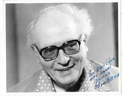 Prominent French Composer Olivier Messiaen ,Autographed Vintage Studio Photo