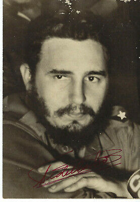 Former Cuban Revolutionary Dictator Fidel Castro ,Autographed Vintage Photo. 4X6