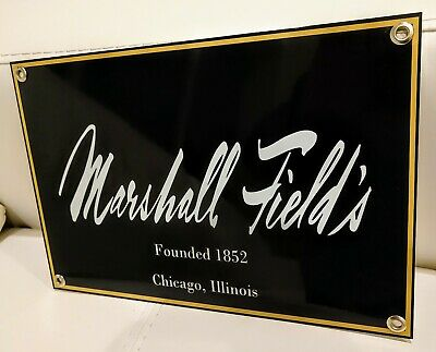 Marshall Field's Fields  Field store nostalgia Chicago sign