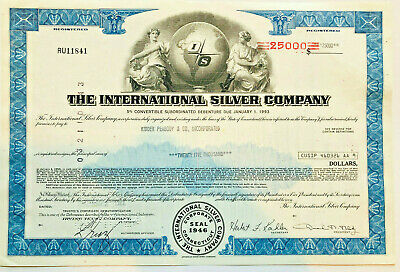 International Silver Company > 1970s bond certificate