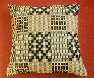 Early Antique Indigo-White And Red Coverlet Pillow