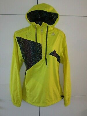 Mens Womens ADIDAS 2012 Olympic Yellow Clima Proof Hoodie Rain Coat S Small GR8