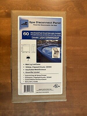 Midwest Electric UG412RMW260P 60 Amp GFI Spa Disconnect Panel, Free Shipping!