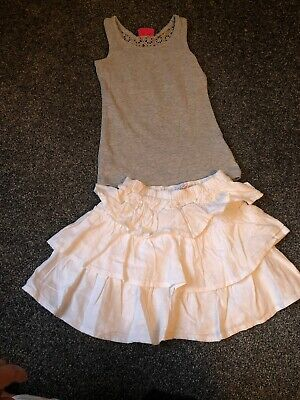 Girls Next Outfit, Summer, Age 4, Gorgeous Little Skirt And Vest Set