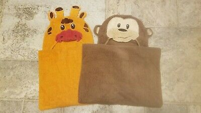 Toddler Hooded Bath Towels - Lot of 2