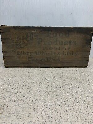 Vintage Libby's Corned Beef Wooden Box Shipping Crate