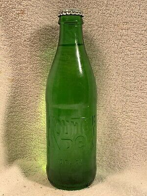 FULL 10oz MOUNTAIN DEW NO DEPOSIT EMBOSSED SODA BOTTLE