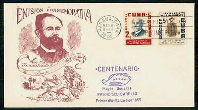 Mayfairstamps Habana FDC 1955 Francisco Carrilo Mayor General First Day Cover ww