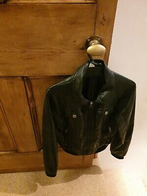 Girls Black Faux  Leather Jacket . H&M Age 9-10