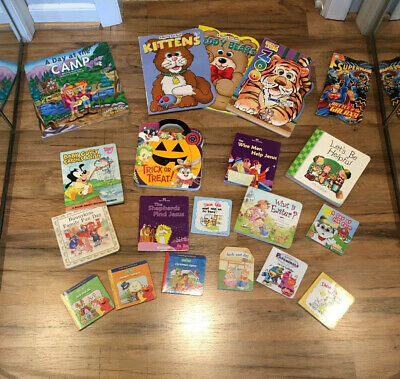 Huge Lot Of 20 Baby Toddler Chunky Board Books  - Mixed interest