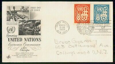 Mayfairstamps United Nations FDC 1959 Economic Commission Europe Combo First Day