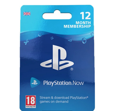 Playstation Now 12 Months Subscription - REAL UK/EU CARDS - RRP 49.99