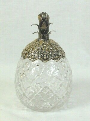Pineapple Sterling Crystal Jam / Honey Jar With Signed
