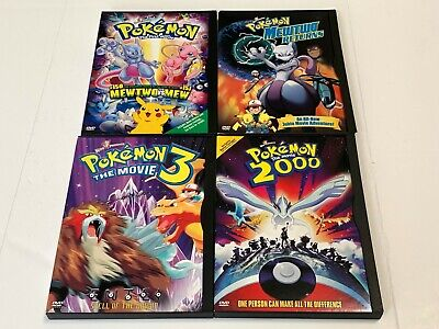 Pokémon DVD LOT OOP Mew Vs Mewtwo 2000 3 Mewtwo Returns + FREE US SHIP!