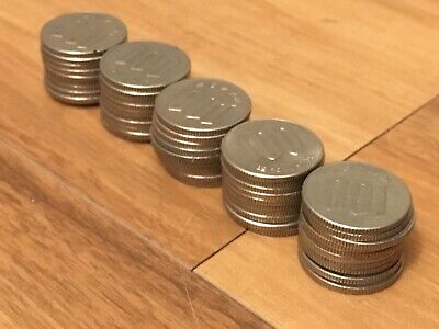 Lot of 50 - Japanese One Hundred (100) Yen Coins