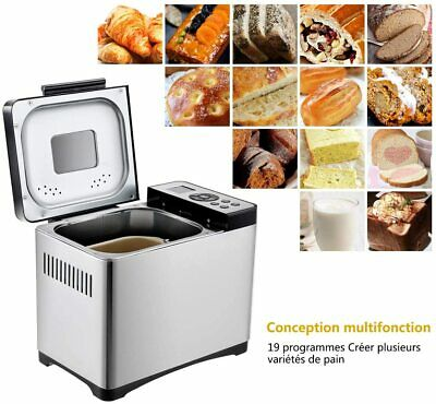 COSTWAY 2 LB Bread Maker Stainless Steel Automatic Programmable Multifunctional