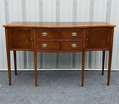 Ethan Allen Federal Style Banded Mahogany Buffet Sideboard 22-6545 Finish 252