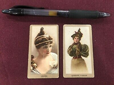 LOT OF 2 DUKE'S TOBACCO ACTRESSES CARDS  Cricri Queenie Vasar