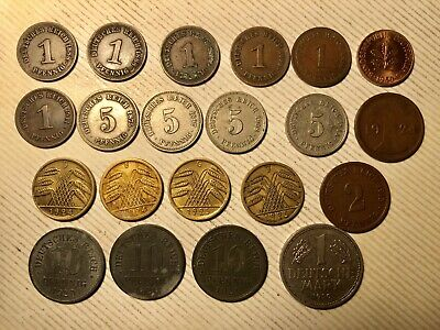 Lot Of (21) Early Vintage Coins Of Germany