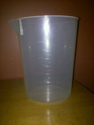 NEW Quantity (1) - 4000ml (4L) Polypropylene Graduated beaker Made in USA