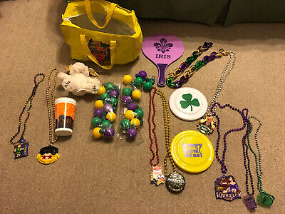 Krewe of Iris Tucks Morpheus 2020 Mardi Gras Parade Lot Beads & More