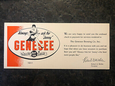 Genesee Beer Ale Brewing Company Check Card Postcard Wehle