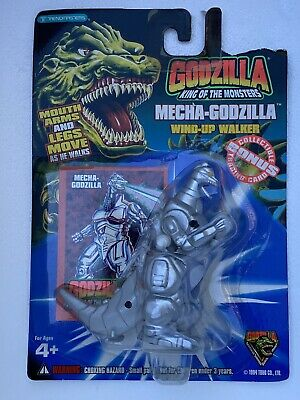 Trendmasters Mecha Godzilla Wind-up Walker & Card  King of the Monsters Toy 1994