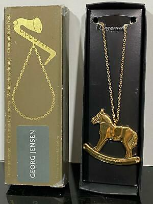 Georg Jensen Rocking Horse Gold Plated Christmas Ornament
