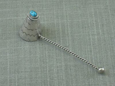Vintage Stamped Sterling Silver Turquoise Candle Snuffer Handmade Native Navajo